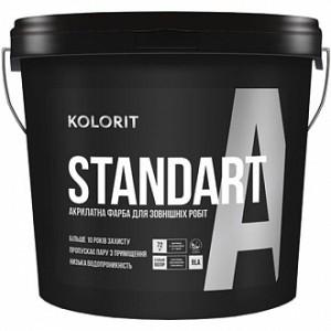 Краска Kolorit Standart А, LА белый 4,5л 6,3кг