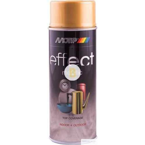 Аэрозольная краска Motip Deco Effect с эффектом металлик настоящее золото 400 мл