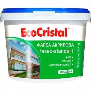 Краска акриловая водоэмульсионная EcoCristal ИР-131 мат белый 1л