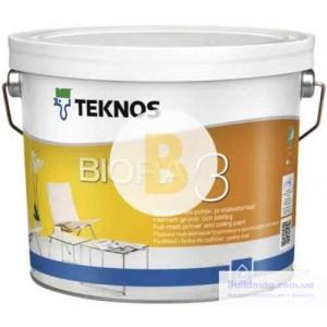 Краска интерьерная акрилатная TEKNOS BIORA 3 мат белый 0,9л