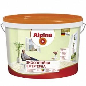 Краска Alpina Износостойкая B1 белый 10л