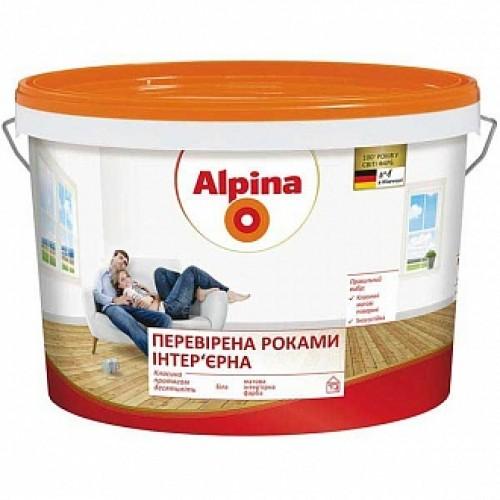Краска акриловая Alpina Провереная годами мат белый 10л 14кг