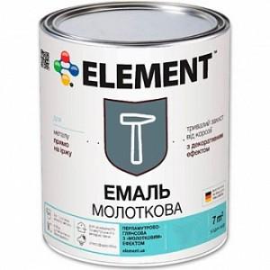 Эмаль Element алкидная антикоррозийная 3 в 1 Стоп іржа черный глянец 2кг