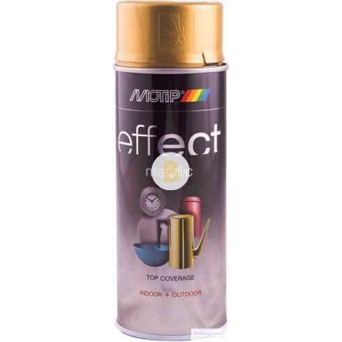 Аэрозольная краска Motip Deco Effect с эффектом металлик золотой бриллиант 400 мл