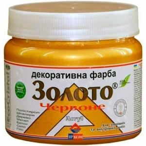 Краска декоративная акриловая Ircom Decor красное золото 0,1 л