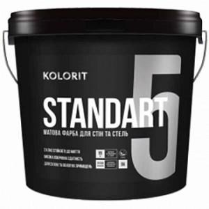 Краска латексная Kolorit Standart 5 (база А) мат белый 0.9л