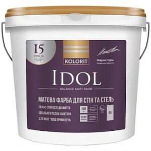 Краска латексная Kolorit Idol база А мат белый 0.9л
