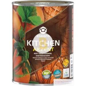 Краска акриловая Eskaro Akzent Kitchen TR шелковистый мат бесцветная 0.9л