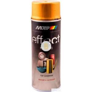 Аэрозольная краска в баллончике Motip Deco Effect с эффектом металлик золотистый 400 мл